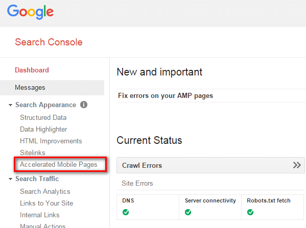 Amp co vai tro gi trong search console